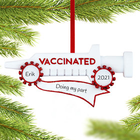 Personalized Vaccinated Christmas Ornament