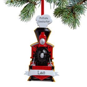 Personalized Train Coming Christmas Ornament