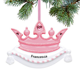 Personalized Princess Crown Christmas Ornament