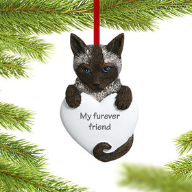 Personalized Siamese Cat Christmas Ornament