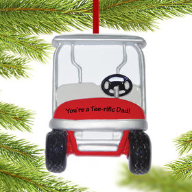 Personalized Golf Cart Christmas Ornament