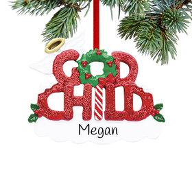 Personalized God Child Letters Christmas Ornament