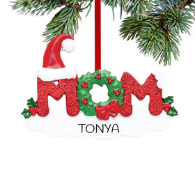 Personalized Mom Letters Christmas Ornament