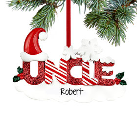 Personalized Uncle Letters Christmas Ornament