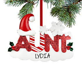 Personalized Aunt Letters Christmas Ornament