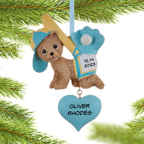 Personalized Baby Sports Fan Boy Christmas Ornament