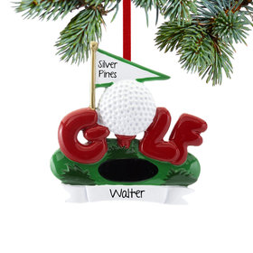 Personalized 18th Hole Christmas Ornament