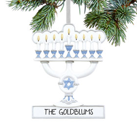Personalized Menorah Christmas Ornament
