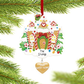 Personalized Our Sweet Home Gingerbread House Christmas Ornament