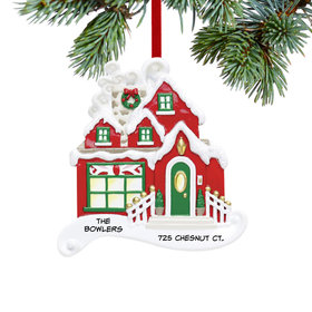 Personalized Christmas Cottage Christmas Ornament
