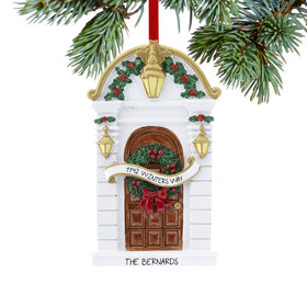 Personalized Holly Door Christmas Ornament
