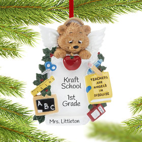 Personalized Angel Teacher Christmas Ornament