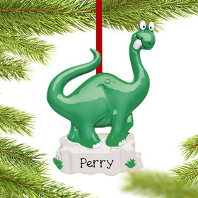 Personalized Dinosaur Christmas Ornament
