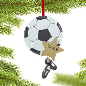Personalized Soccer Star with Cleats Christmas Ornament