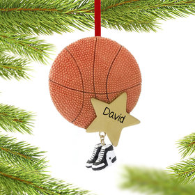 Personalized Basketball Star with Sneakers Christmas Ornament