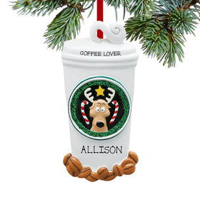 Personalized Coffee Lover's Dream Christmas Ornament