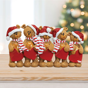 Bears With Hearts Family 5 Table Decoration Christmas Ornament