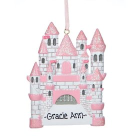 Personalized Castle Christmas Ornament