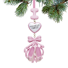 Personalized Ballet Slippers Christmas Ornament