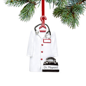 Personalized Doctor's Coat Christmas Ornament
