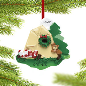 Personalized Camping Christmas Ornament