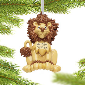 Personalized Lion Baby Christmas Ornament