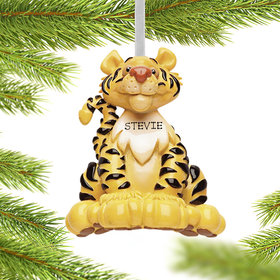 Personalized Tiger Christmas Ornament