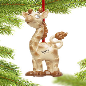 Personalized Giraffe Christmas Ornament