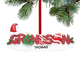 Personalized Grandson Letters Christmas Ornament