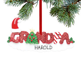 Personalized Grandpa Letters Christmas Ornament