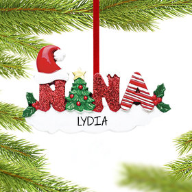 Personalized Nana Letters Christmas Ornament