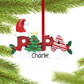 Personalized Papa Letters Christmas Ornament