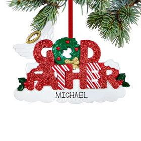 Personalized God Father Letters Christmas Ornament