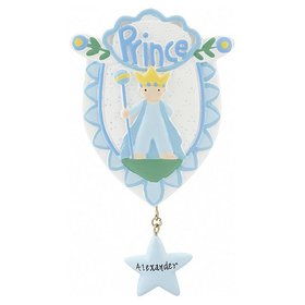 Personalized Little Prince Christmas Ornament