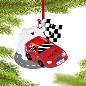 Personalized NASCAR racer Christmas Ornament