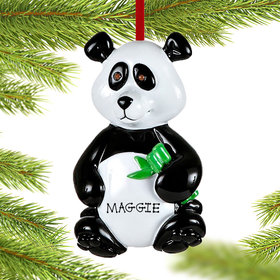 Personalized Panda Bear Christmas Ornament