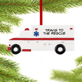 Personalized Ambulance Christmas Ornament