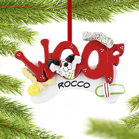 Personalized Woof Dog Letters Christmas Ornament