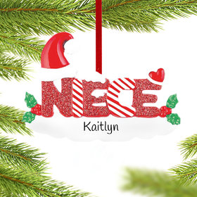 Personalized Niece Letters Christmas Ornament