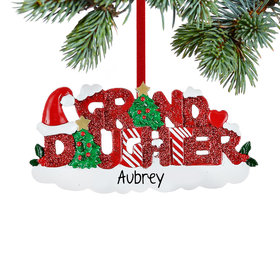 Personalized Granddaughter Letters Christmas Ornament