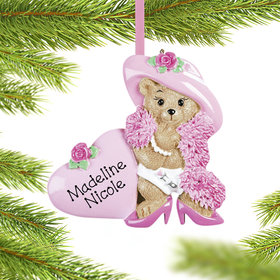 Personalized Dress Up Baby Girl Christmas Ornament