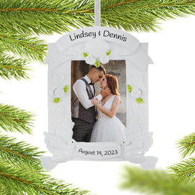 Personalized Wedding Frame Ornament Christmas Ornament