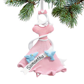 Personalized Princess Dress Christmas Ornament