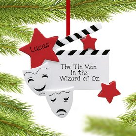 Personalized Drama Faces Christmas Ornament