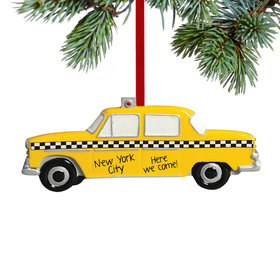 Personalized Taxi Christmas Ornament