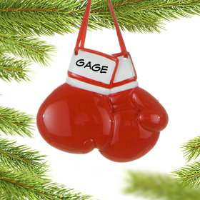 Personalized Boxing Gloves Christmas Ornament