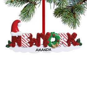 Personalized New York Letters Christmas Ornament