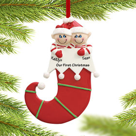 Personalized Elf Couple Christmas Ornament