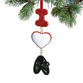 I Love Tap Christmas Ornament