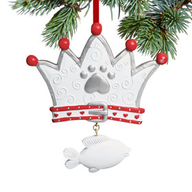 Cat Crown Christmas Ornament